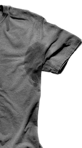 how to clean pit stains from colored shirts