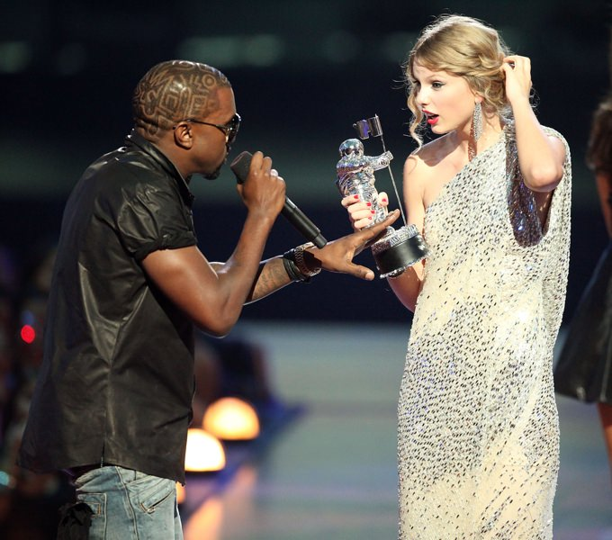 Kanye West interrupting Taylor Swift at the MTV VMA awards in 2009