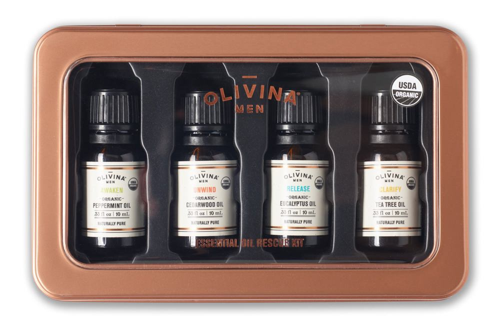 Olivina Men Organic Essential Oil Rescue Kit