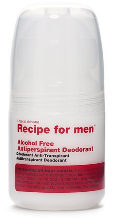 Recipe for Men Alcohol Free Antiperspirant Deodorant