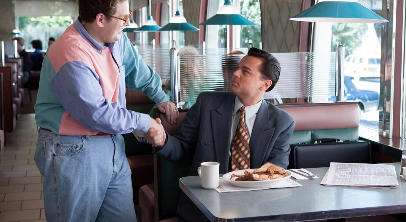 Handshake in The Wolf of Wall Street