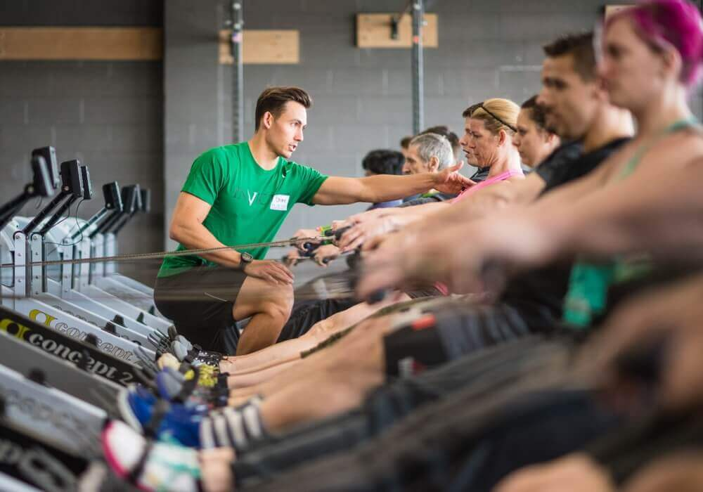 Row machine workouts