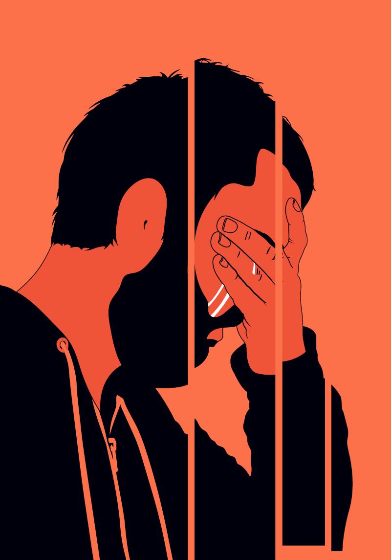 Man crying illustration