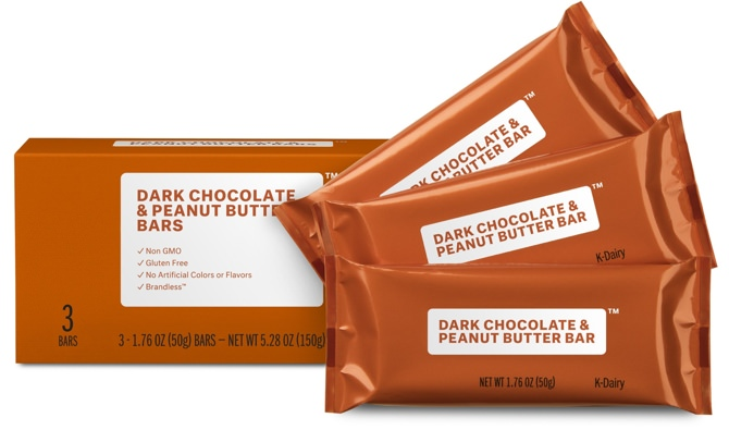 Brandless Dark Chocolate & Peanut Butter Bars