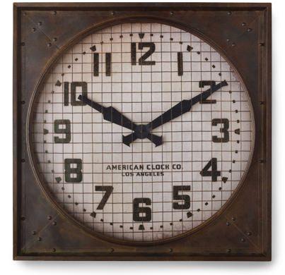 RH 1940s Gymnasium Clock