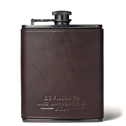 Filson Leather-Wrapped Flask
