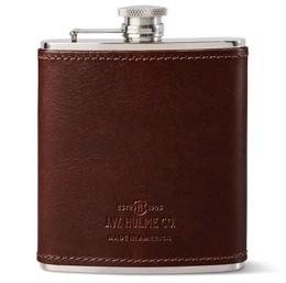 J.W. Hulme Leather-Covered Flask