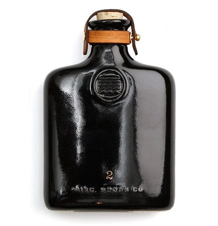 Misc. Goods Co. Ceramic and Leather Flask