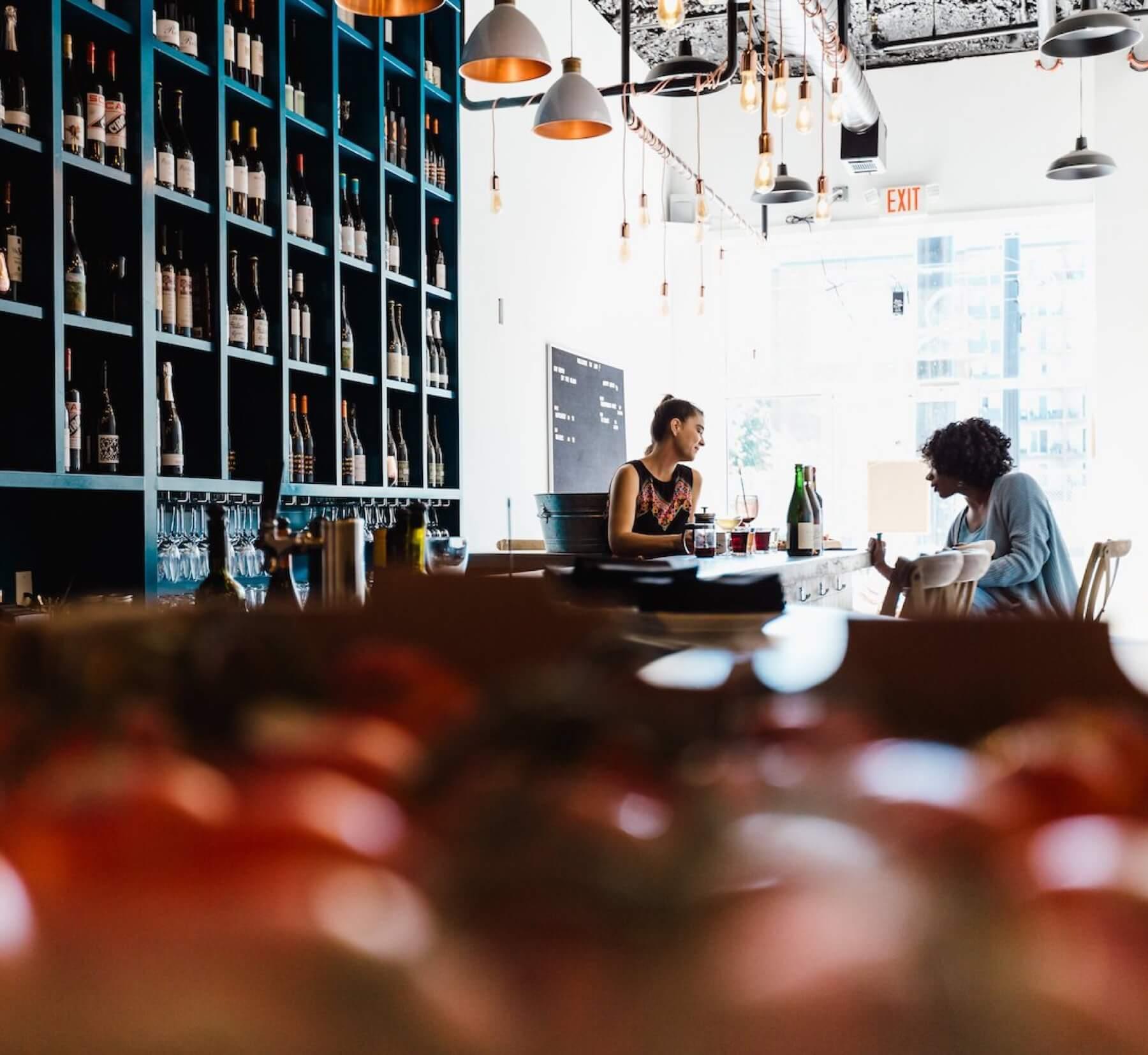 Dio natural wine bar in Washington, DC