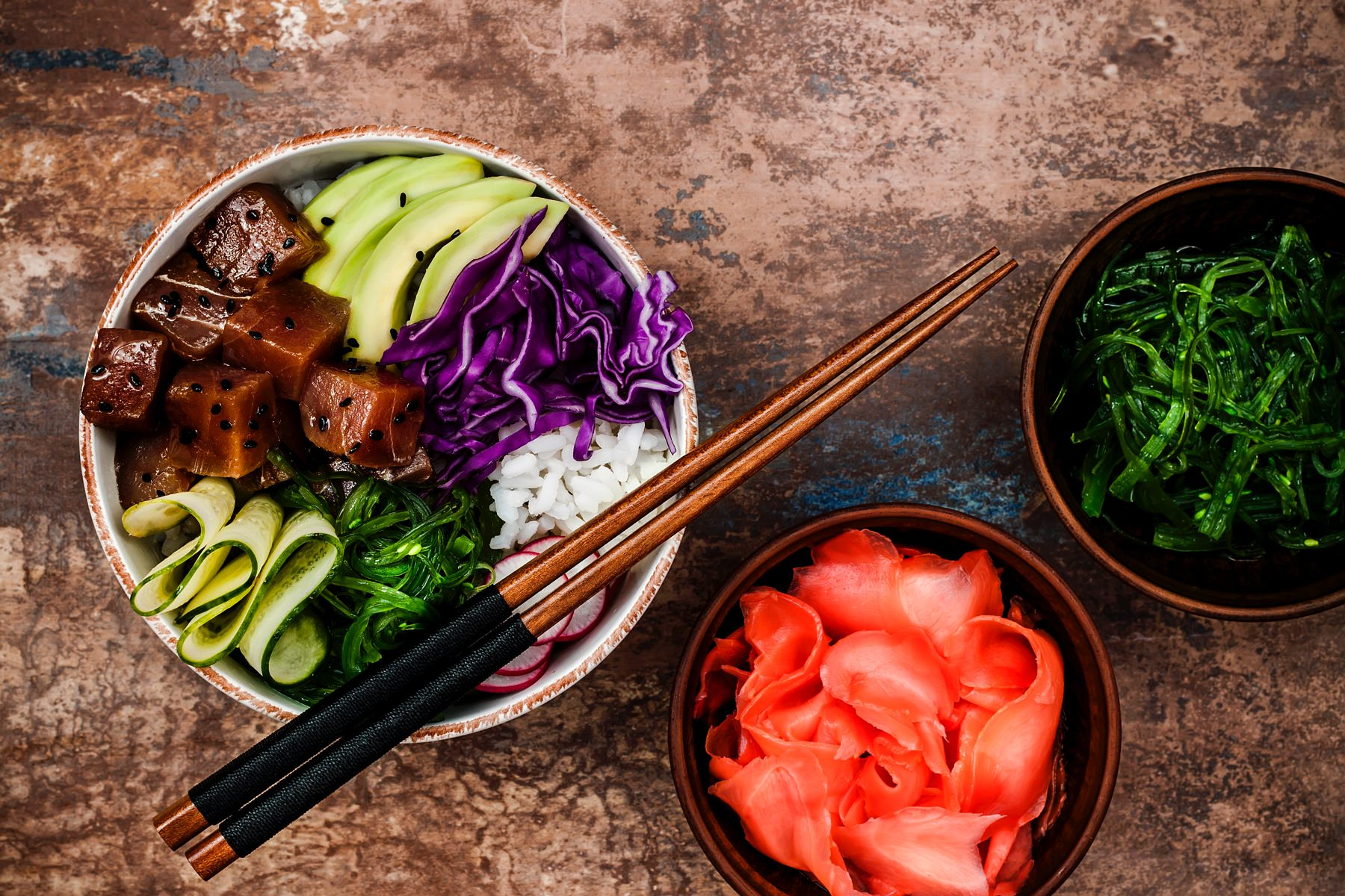 Cali-style poke bowl recipes