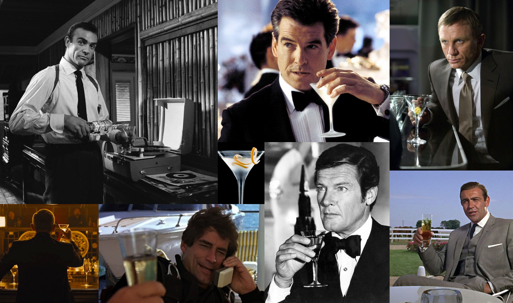Iconic James Bond cocktail images
