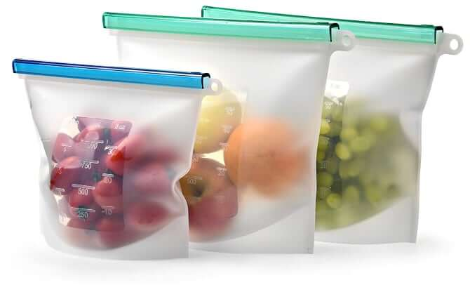 Kiva World Reusable Food Storage Bags