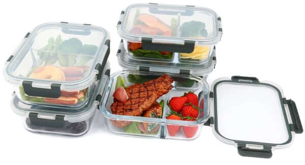 Mcirco Glass Food Storage Containers