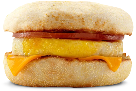 McDonald's Egg McMuffin breakfast sandwich
