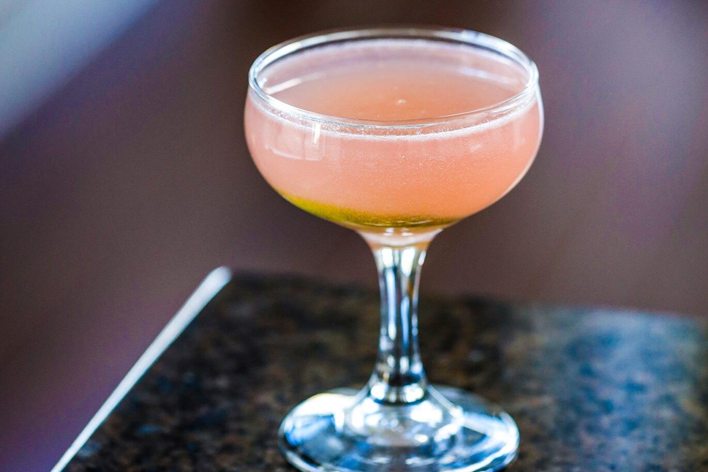 The Rhubarb Mezcal Sour cocktail recipe