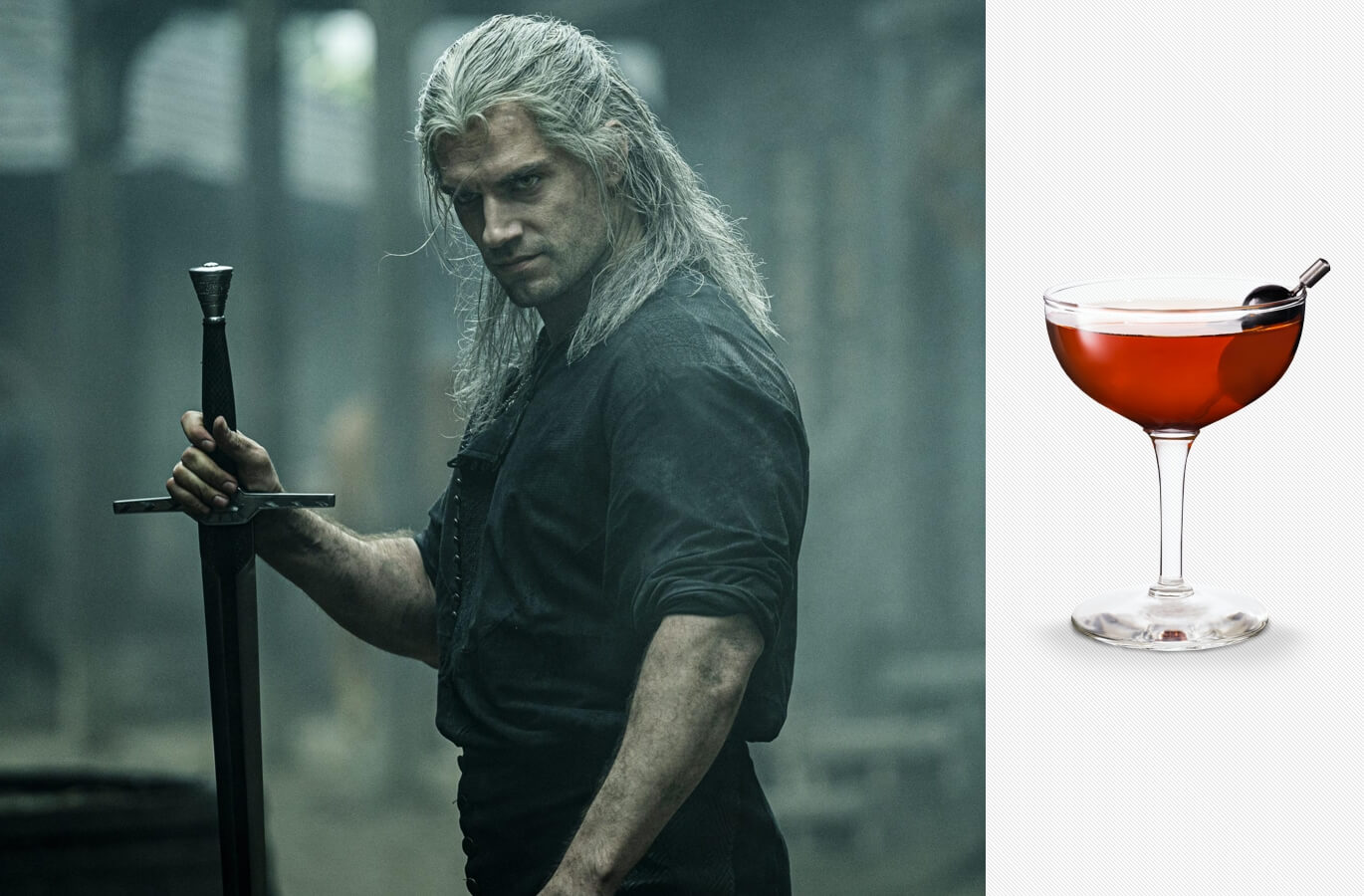 The Witcher on Netflix and a Hunter cocktail