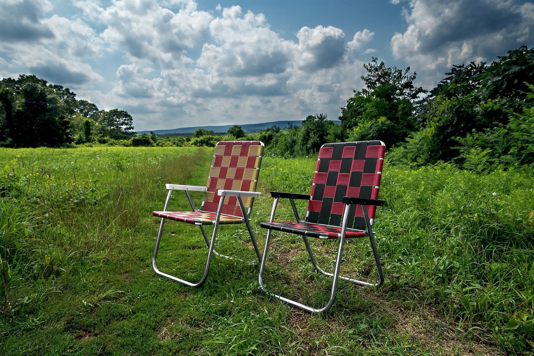Aluminum webbed lawn chair