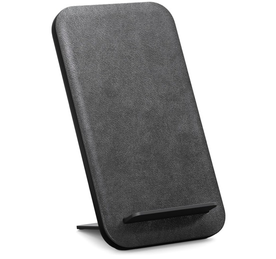 Nomad Leather Wireless Charging Travel Stand