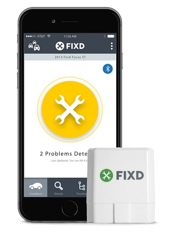 Fixd app and active car health monitor