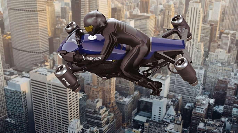 Jetpack Aviation's The Speeder flying motorcycle