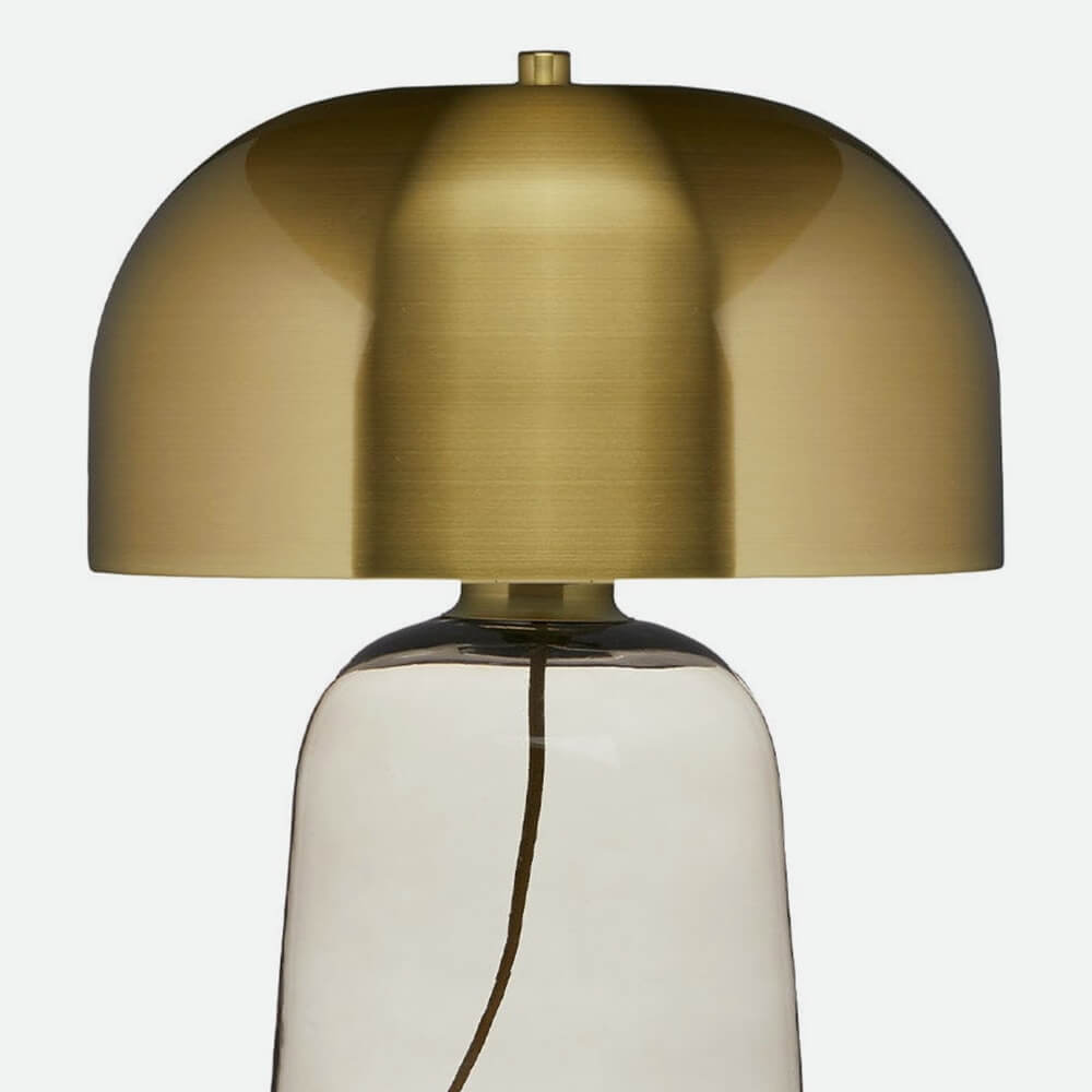 Article. smoke and brass lamp