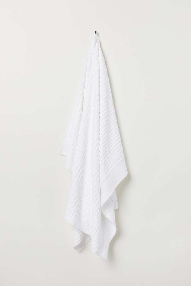 H&M Jacquard-Weave Bath Sheet