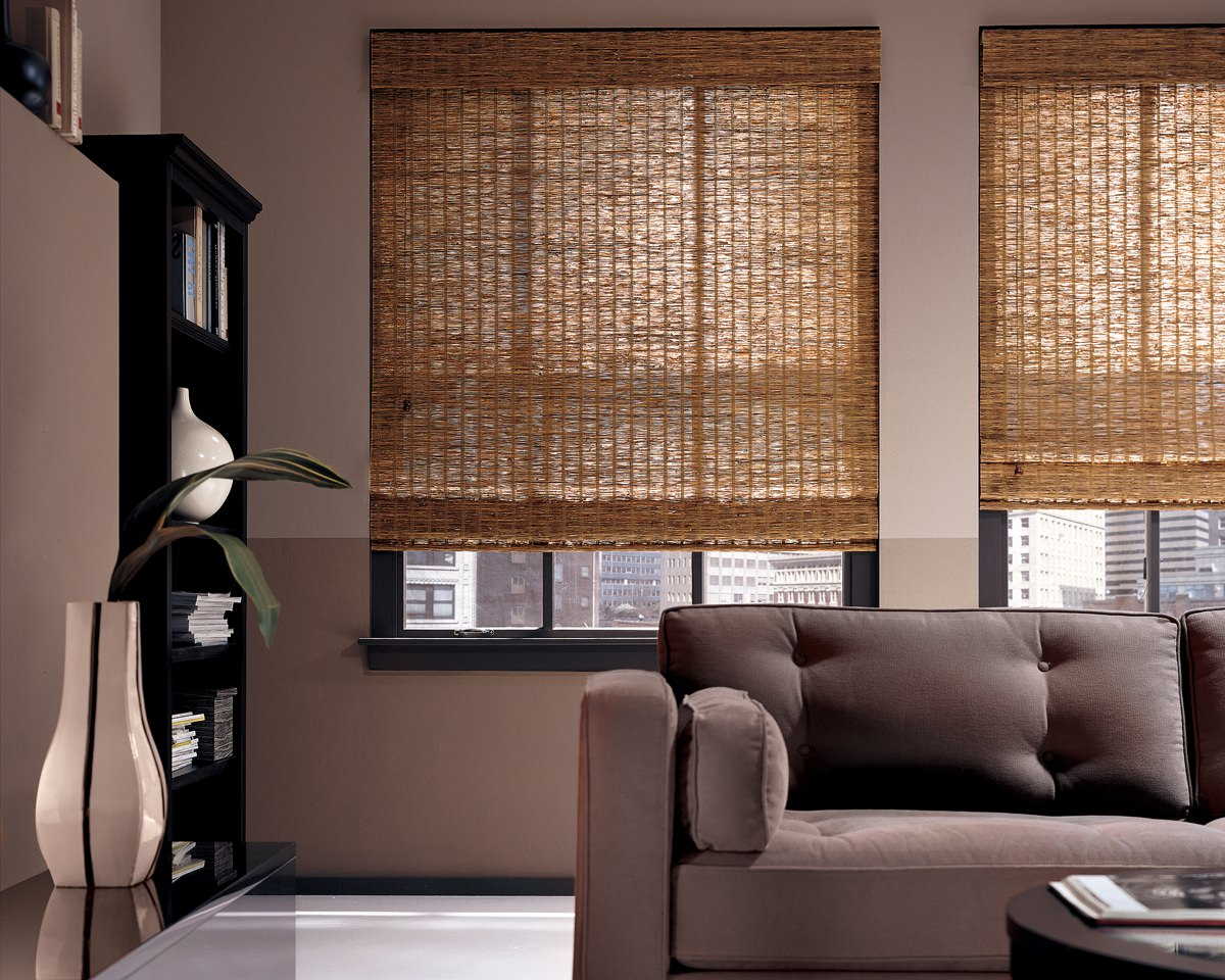 Blinds.com Custom-Sized Woven Wood Shades