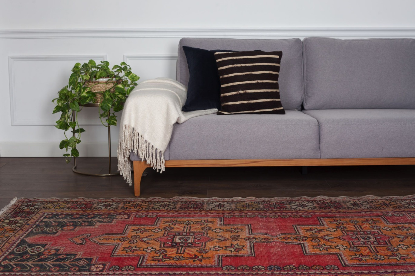 Ayten geometric Anatolian rug by Revival
