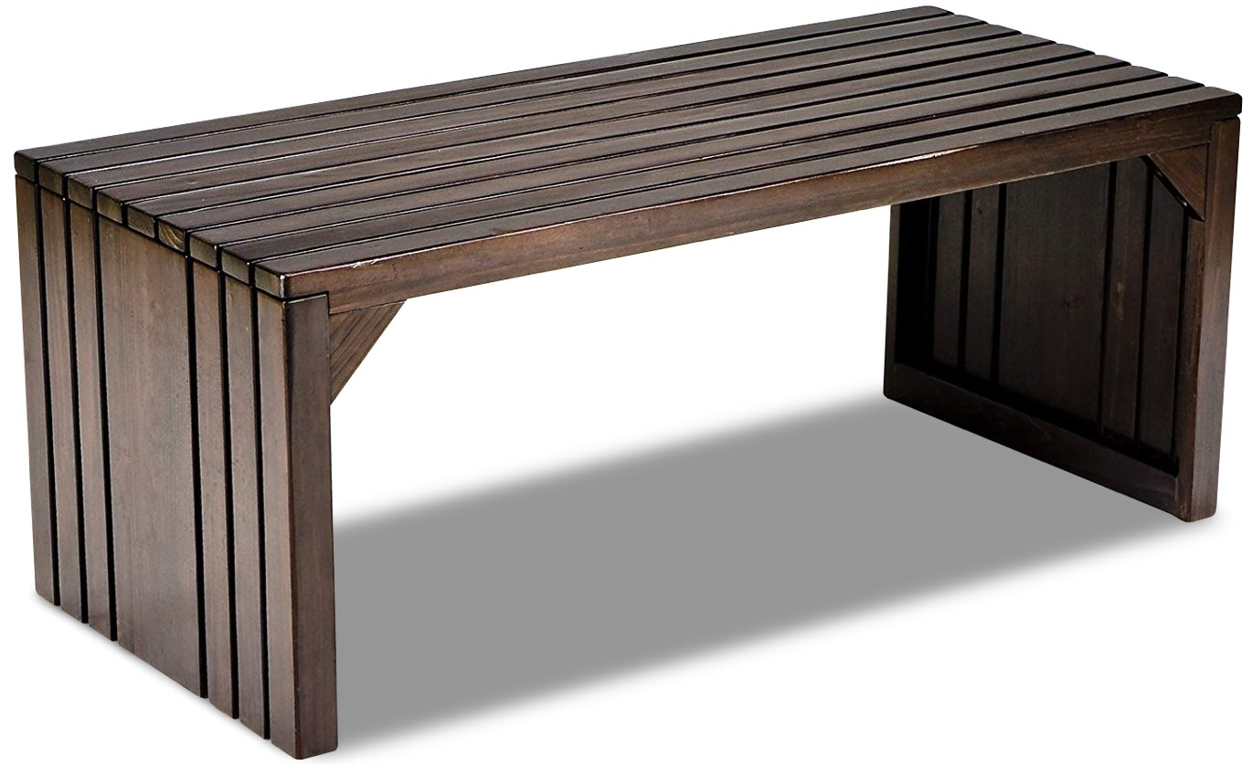 Southern Enterprises Slatted Hardwood Bench