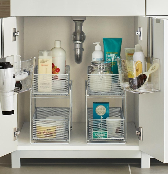 The Container Store Two-Drawer Mesh Organizer