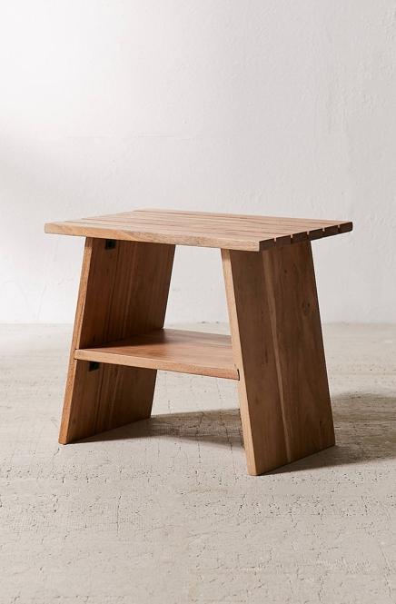Urban Outfitters Kanae Acacia Wood Stool