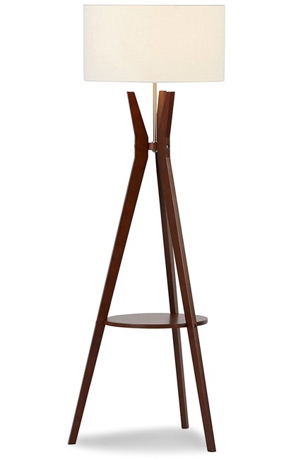 Rivet Walnut Tripod Lamp
