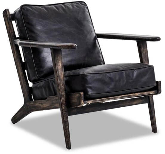 France & Son Irondale Ebonized Lounge Chair