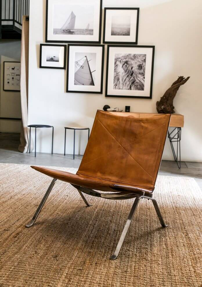 Vintage Poul Kjaerholm PK22 leather chair