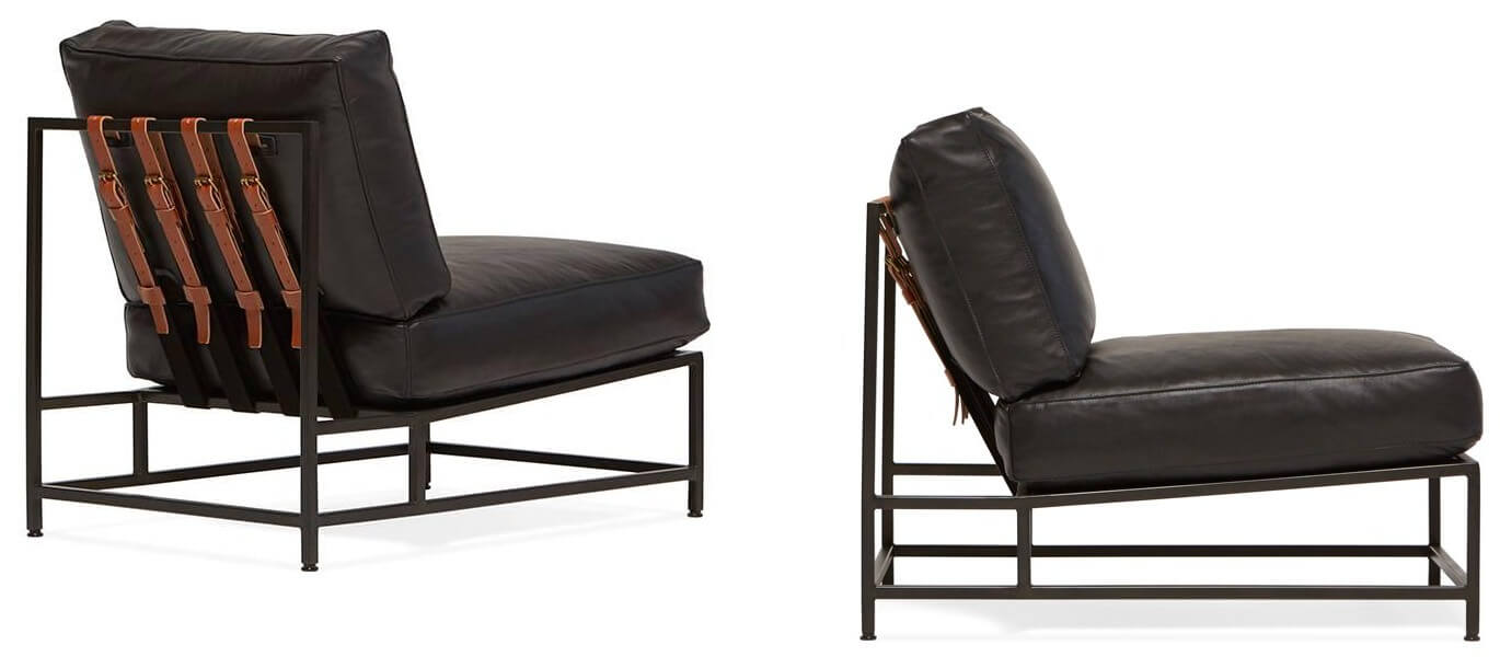 Stephen Kenn Obsidian Leather Armchair