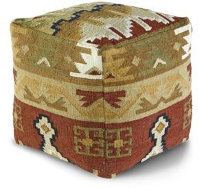 Loon Peak Wool Chama Ottoman