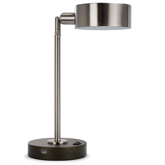 Latitude Run Brushed Steel Desk Lamp