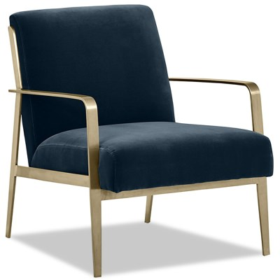 Rivet Clover Brass Accent Chair