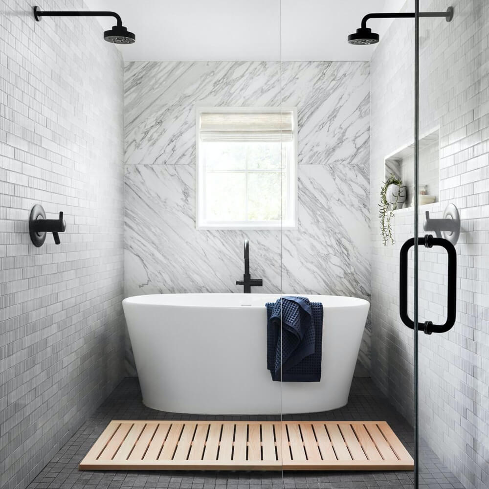 Best wood bath mats