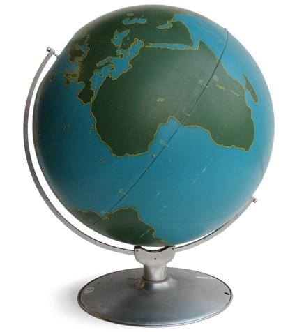 A.J. Nystrom & Co. 1940s Aviation Globe