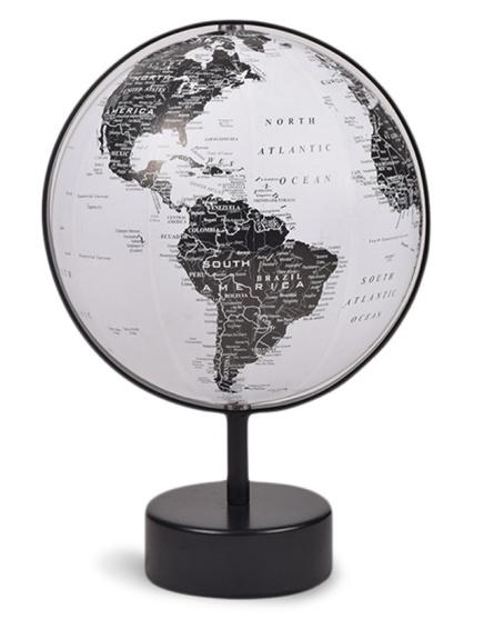 Project 62 Retro Black and White Paper Globe