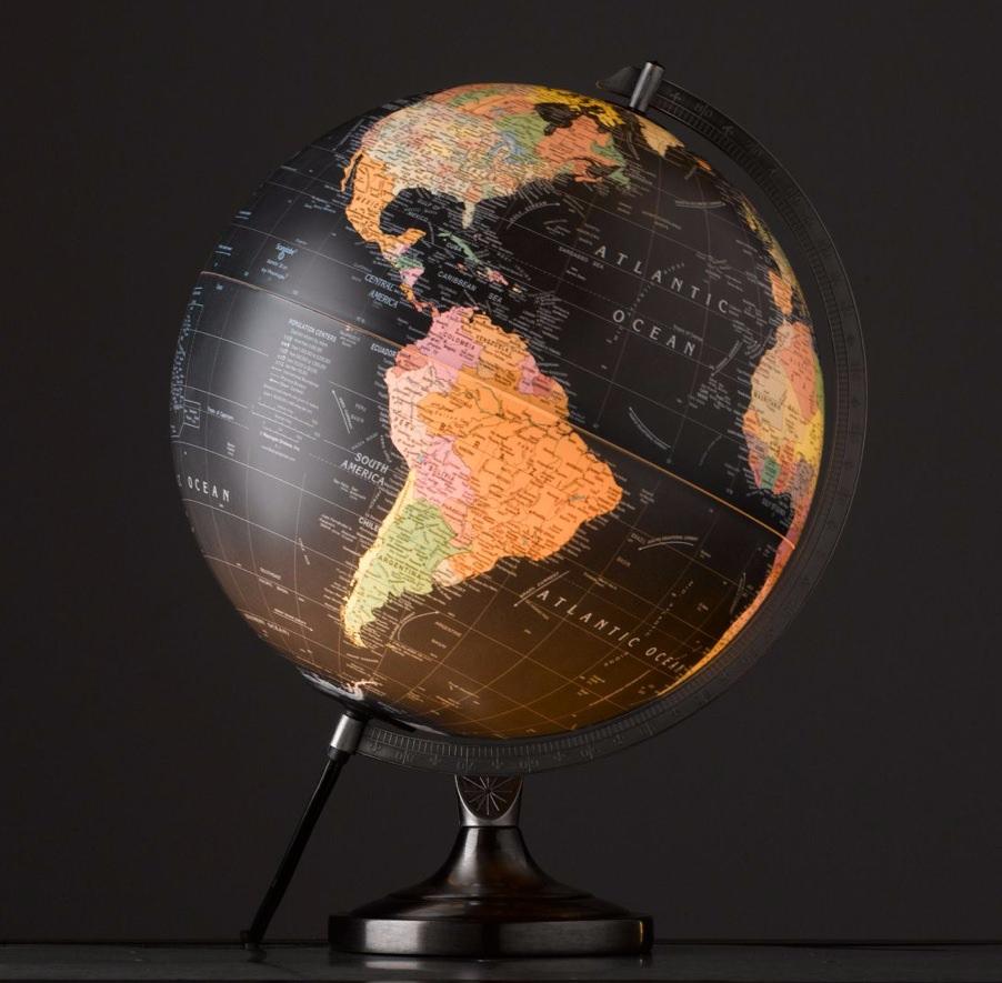RH Illuminating Stainless Steel Globe