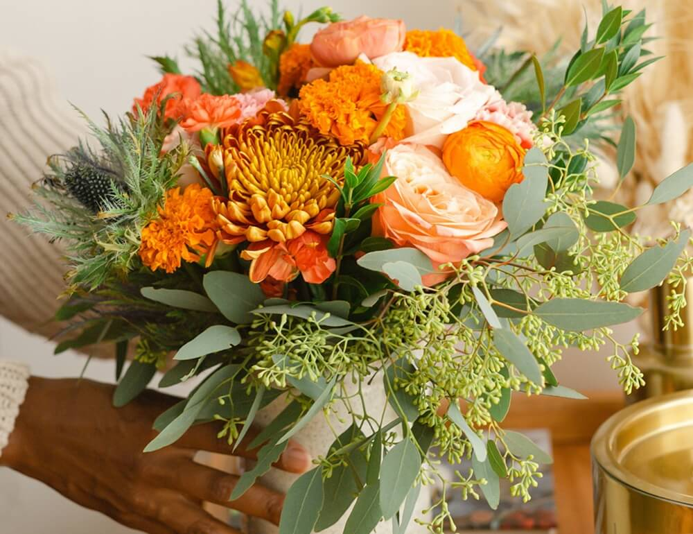 Fall foral arangements by UrbanStems