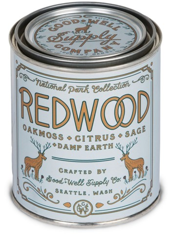 Good + Well Supply Co. Redwood National Parks Candle