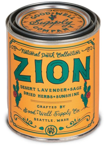 Good + Well Supply Co. Zion National Parks Candle