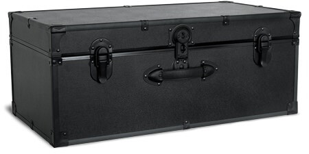 Seward Trunk Barracks Footlocker with Matte Black Hardware