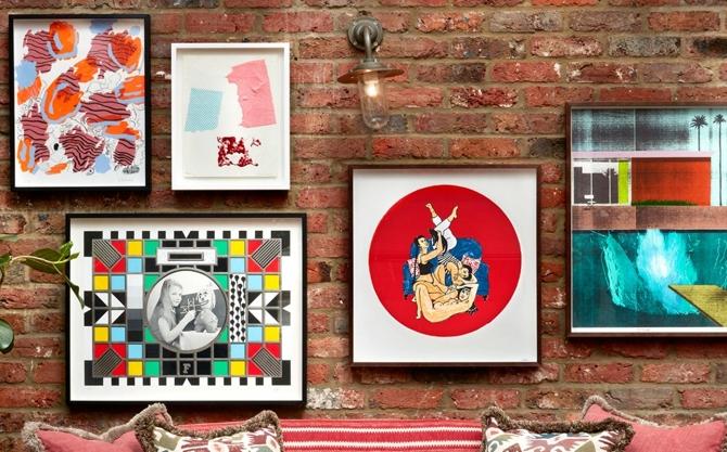 Soho House gallery wall