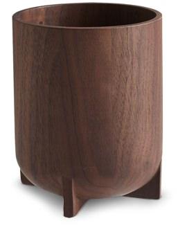 CB2 Walnut Pencil Cup