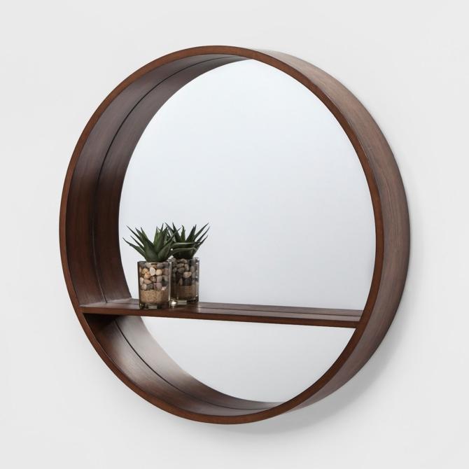 Project 62 Walnut Mirrow With Shelf