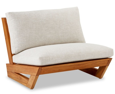 CB2 x Fred Segal Teak Cushioned Lounge Chair